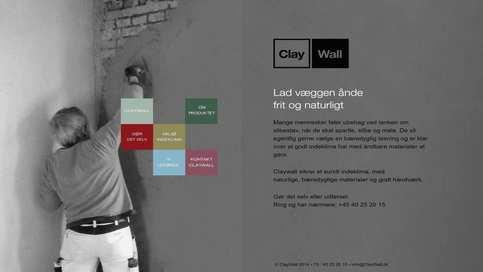 Clay Wall er skræddersyet efter kundens specifikationer med en menu der sjældent ses. Den blev også søgemaskineoptimeret samtidig. Flot webdesign, endnu bedre SEO.