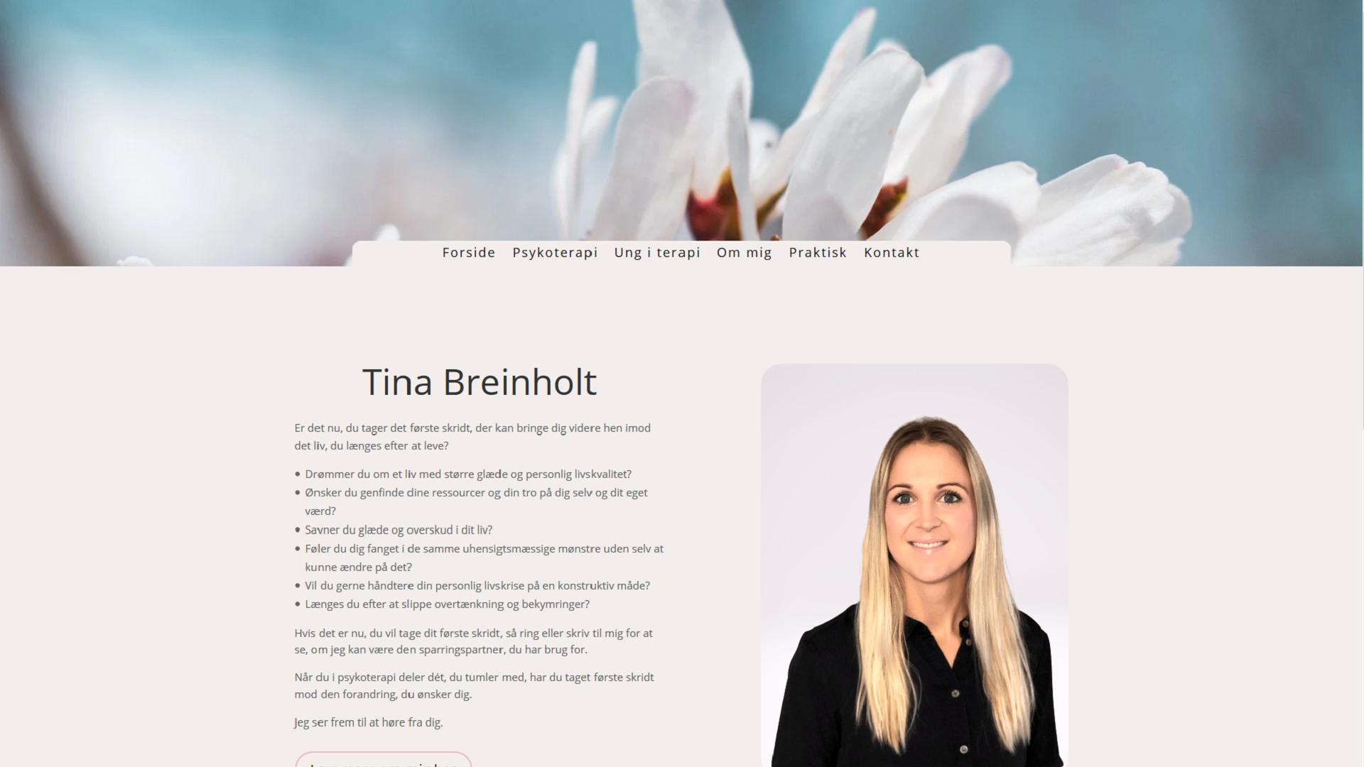 Tina Breinholt Psykoterapi